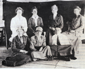 Lilian Laloe (rear, second left) with Doctors from the Scottish Women's Hospital, Salonika, 1917?.
